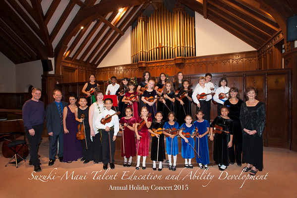 Suzuki Maui Holiday Violin Concert 2015