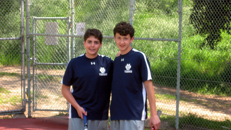 Cyrus and Ted get ready for home match in April 2010