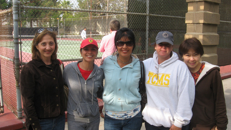 Part of 13-member starting team of Moms--Mrs. Jabbari, Mrs. Buendia, Mrs. Kracoff, Mrs. Hammel, and Mrs. Francia.  April 2010