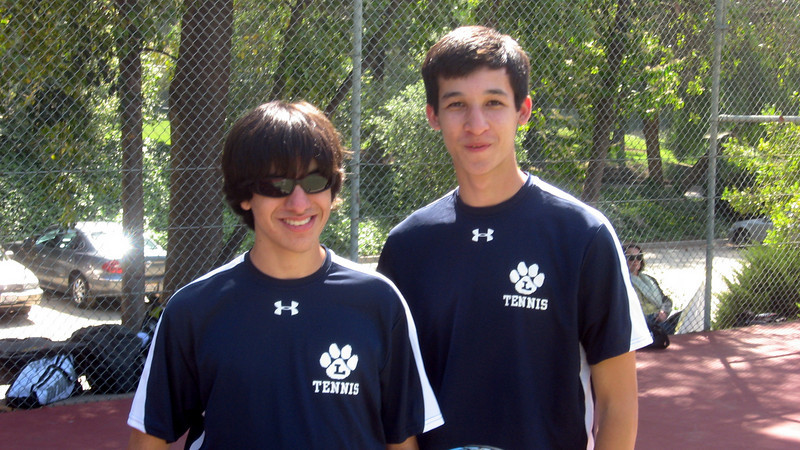In their second year as winning doubles team--Julio and Jared