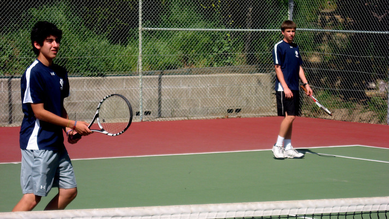 Chris Llerena and Griffin Cohen warm up for home match in April 2010