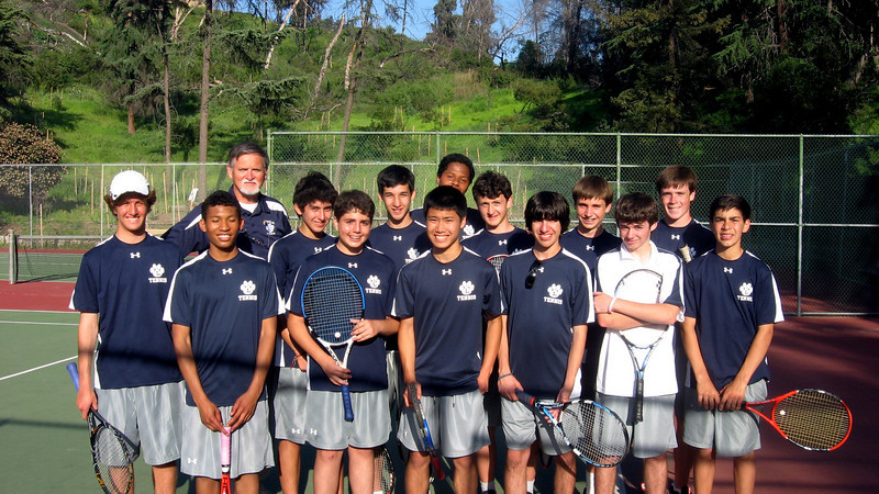 One of team pictures, here at home courts in Griffith Park, April 2010