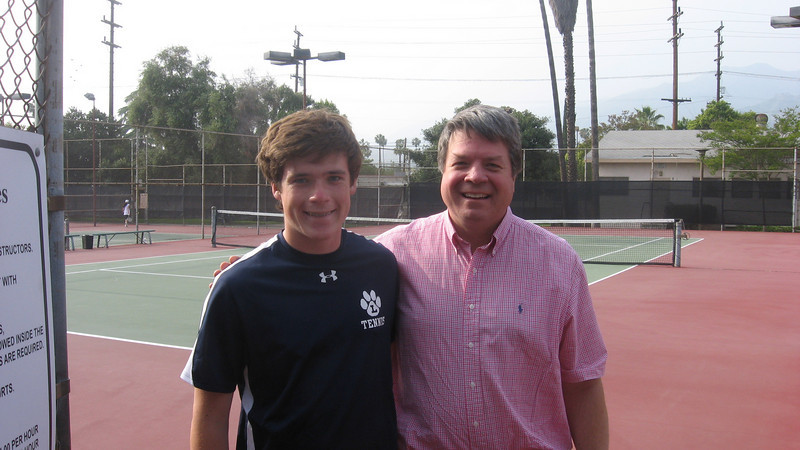 Shea McConnell with his Dad at St. Francis match, April 2010