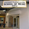 One of several downtown Iowa City temporary locations, in the Old Capitol Towne Center mall,  for the University of Iowa Music Dept. Flood Recovery, 7/27/09, various Iowa City locations.  Projected to be ready for Fall semester, 2009.