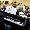 School of Music UCC classroom.  John Rapson teaches a Jazz Theory class in the new music facility in UCC.