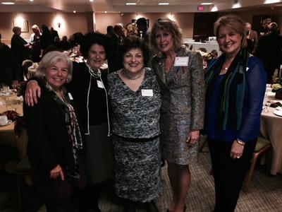 Congratulations Dr. Linda Goodfellow on 25 years at Duquesne!  Photo from the 25-Year Dinner... (left to right, Leah Cunningham, Karen Bova, Maureen Leonardo, Linda Goodfellow, Joan Lockhart)