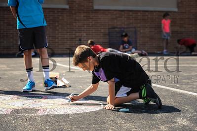 5-24-16 5th grade sidewalk chalk (Class of '23 - Erik's class)-3