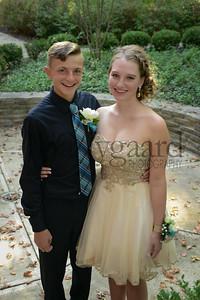 9-23-17 Tayton Kleman and Julia Smallcombe - Freshman Homecoming-1