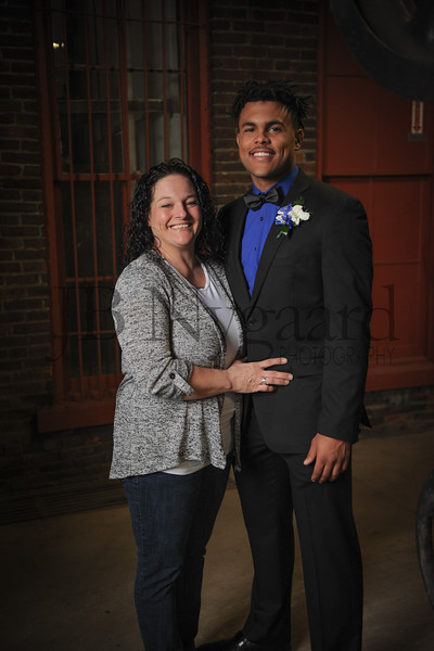 4-21-18 Kaleb Jefferson (Senior) with mom Jaime Hoffer-9