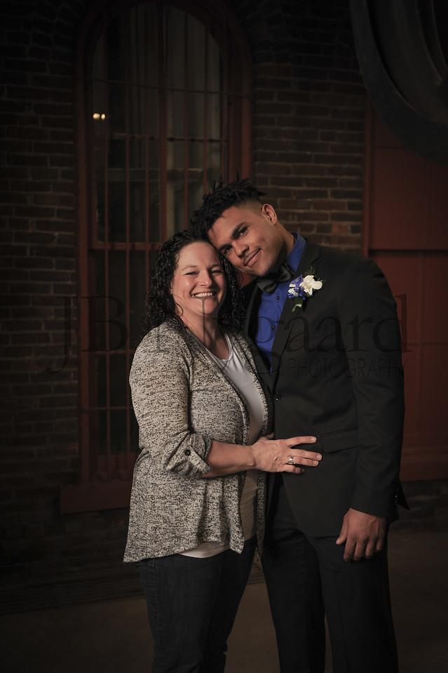 4-21-18 Kaleb Jefferson (Senior) with mom Jaime Hoffer-4