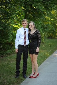 9-29-18 Eden Nygaard (15 - Sophmore) and Bailey Edwards (17 - Senior) Bluffton HS Homecoming-3