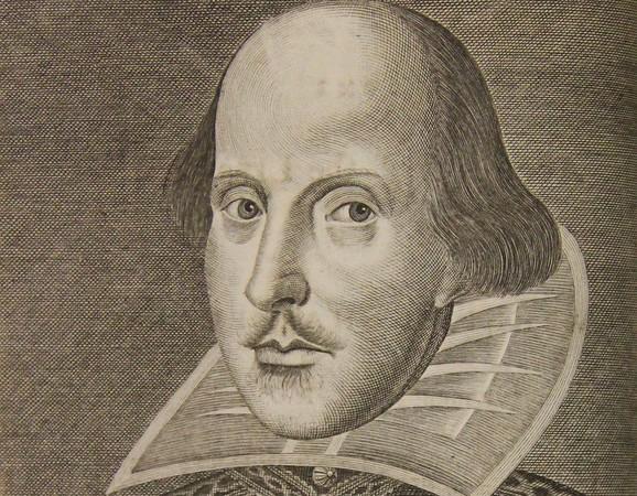 Portrait of Shakespeare (second impression of Third Folio)