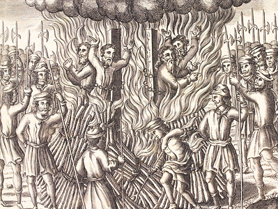 The burning of four martyrs