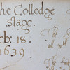 Entry in library account book for the college stage
