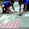 Pennridge High School holds Sidewalk Chalk Day Thursday, May 28. Debby High — For Montgomery Media