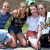 Pennridge High School 11th-graders Sophie Hicks, Kara Strauch, Nica Anderson and Isabella Walker are four of the 462 who signed up for Sidewalk Chalk Day. Debby High — For Montgomery Media
