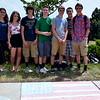 "Pennridge 10th-graders create a ""Merica"" flag during Sidewalk Chalk Day. Debby High — For Montgomery Media"