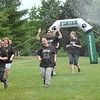 Bedminster Elementary School Principal Mia DiPaolo and some teachers take on the Mud Run challenge. Debby High — For Montgomery Media
