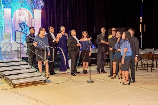 "The Jarvis Christian College Choir sings ""We Love You"" as the Royal Party and guests exit to the reception next door."