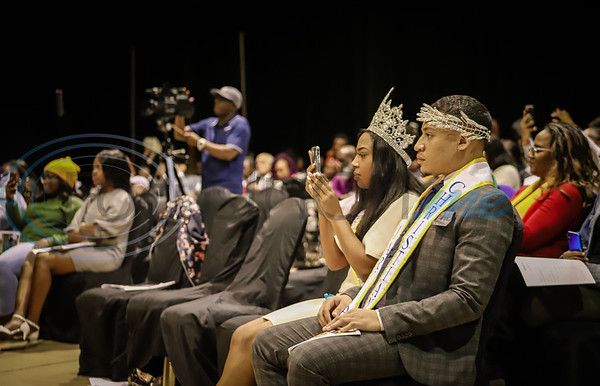 Mr Jarvis Christopher Ortiz Jr and Miss Jarvis Chartaveoua Graggs watch performances during East Texas Got Talent. Sarah Perez/Freelance