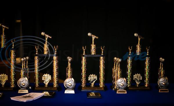 Contestant trophies for East Texas Got Talent. Sarah Perez/Freelance