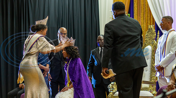 Outgoing Miss Texas College (2018), Miss Relicia Morrison, crowns Texas College sophomore, Miss Keyara Vialpondo, at the Miss Texas College 2019 Coronation.