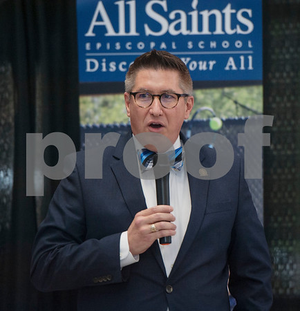 All Saints Episcopal School Head of School Mike Cobb gives a state of the school address during a donor luncheon held at the school on Wednesday Jan. 10, 2018.  (Sarah A. Miller/Tyler Morning Telegraph)