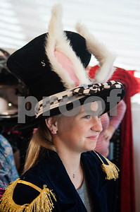 Molly Bryans, 11, tries on her hat for her White Rabbit costume for the play Alice in Wonderland Jr. at Caldwell Elementary in Tyler Oct. 29, 2016. Caldwell Fine Arts Academy is presenting Alice in Wonderland Jr. Thursday Nov. 17 at  10 a.m. and 6 p.m. and Friday Nov. 18 at 1 p.m. and 6 p.m. at Caldwell Auditorium.  (Sarah A. Miller/Tyler Morning Telegraph)