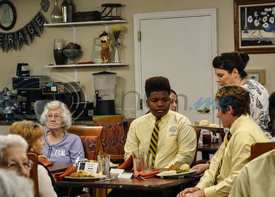 """Lunch is served to Jacksonville ISD students and Angelina House residents during a """"Listen & Learn"""" event put on by the Jacksonville ISD Student Ambassador Team on Thursday, November 8. (Jessica T. Payne/Tyler Morning Telegraph)"""