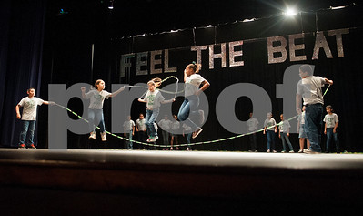 Students from Ramey Elementary School perform a jumprope routine during the Tyler ISD Physical Education Showcase held at Caldwell Auditorium Tuesday Jan. 26, 2016.  (Sarah A. Miller/Tyler Morning Telegraph)