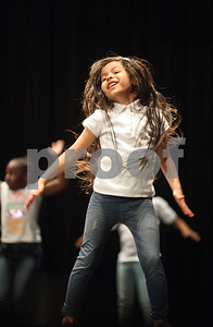 """Students from Griffin Elementary School dance to the Silentó song """"Watch Me (Whip/Nae Nae)"""" during the Tyler ISD Physical Education Showcase held at Caldwell Auditorium Tuesday Jan. 26, 2016.  (Sarah A. Miller/Tyler Morning Telegraph)"""
