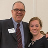 Cary Leblanc (left) presents Kelly Connors of St Bernards HS with the M Ruth Lee Scholarship at the North Central Mass Chamber of Commerce Scholarship Breakfast at the Doubletree in Leominster. SENTINEL & ENTERPRISE / Jim Marabello