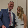 Rick Healey (left) presents Hannah Bagley of St Bernard's HS with the Ed Healey Scholarship at the North Central Mass Chamber of Commerce Scholarship Breakfast at the Doubletree in Leominster. SENTINEL & ENTERPRISE / Jim Marabello