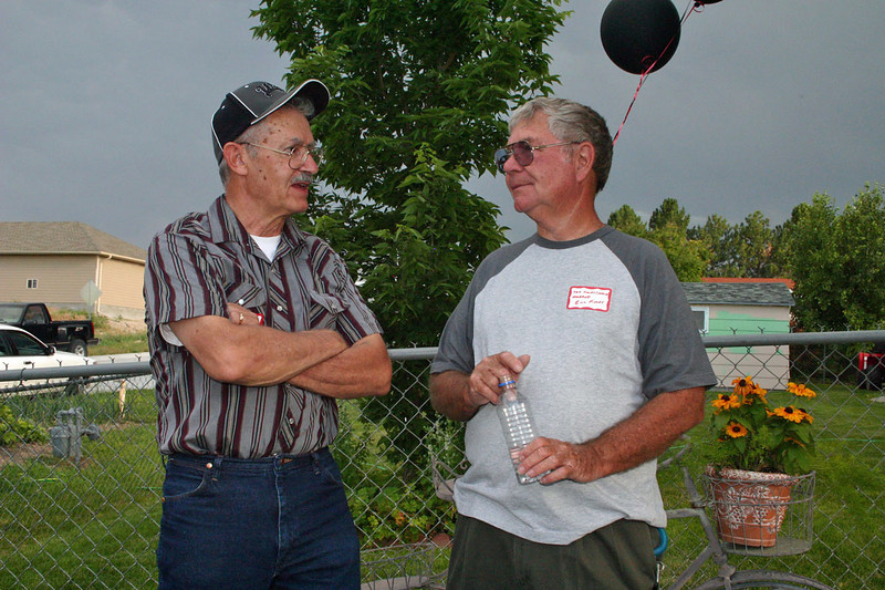 "Charlie Thomsen of Laramie, Wyoming and Bill ""Buzz"" Finley of El Paso, Texas.  Charlie was in the Class of '58, while ""Buzz"" graduated in 1956"