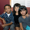 Xander, Alexis, and Leilani Ramos on their first day of school.