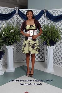 2008 Prairieville Middle School 8th Grade Awards