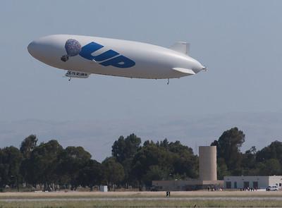 The Airship Ventures' Zeppelin airship Eureka.