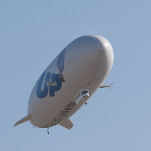 The Airship Ventures' Zeppelin airship Eureka.  On this airship, every seat is a window seat.