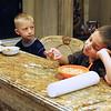 Breakfast - Dylan not quite awake
