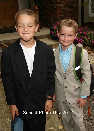 Josh and Jack school picture day