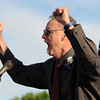"Centaurus honored teacher, Bill Daly, tells the students to ""Rock On!""<br /> For more photos and a video of  Centaurus graduation, go to  <a href=""http://www.dailycamera.com"">http://www.dailycamera.com</a>.<br /> Cliff Grassmick / May 19, 2012"