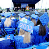 "One of the Peak to Peak graduates puts out the graduation message on Saturday.<br /> For more photos and a video of Peak to Peak graduation, go to  <a href=""http://www.dailycamera.com"">http://www.dailycamera.com</a>.<br /> Cliff Grassmick / May 19, 2012"