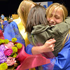 Kayley Thompson hugs Grace Peketz after Saturday's Broomfield High School Commencement at the 1stBank Center.<br /> May 19, 2012 <br /> staff photo/ David R. Jennings