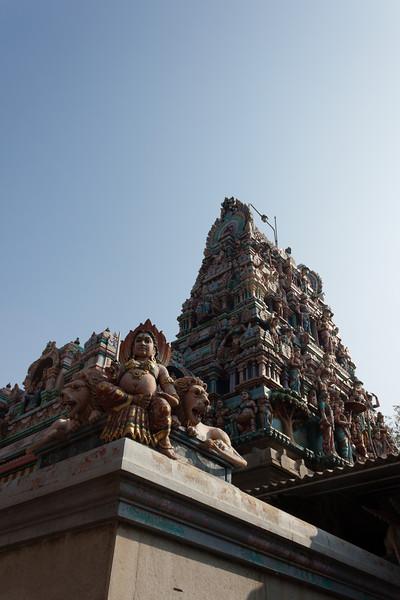 Southern style Hindu temple in Bangaluru