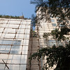 Scaffolding for the renovations at the hotel in Bangalore