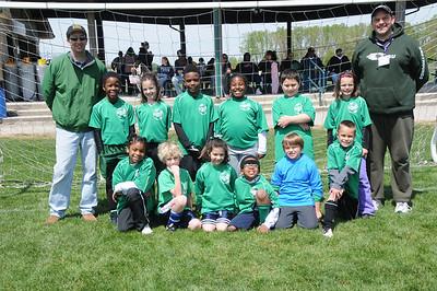 Soccer Team, Spring 2012, Wade's 2nd Grade Team