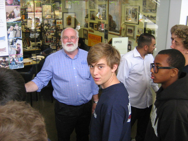 We met briefly with the boss--Fr. Greg Boyle, S.J. who has taken former gang members to the White House. He asked whose parents attended LHS, thinking that they might have been his classmates.  It seems that HB Industries is flourishing.  Friday, 5/25/2012