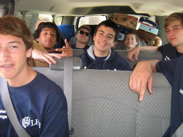 Mr. Denison's van was a jolly crew.