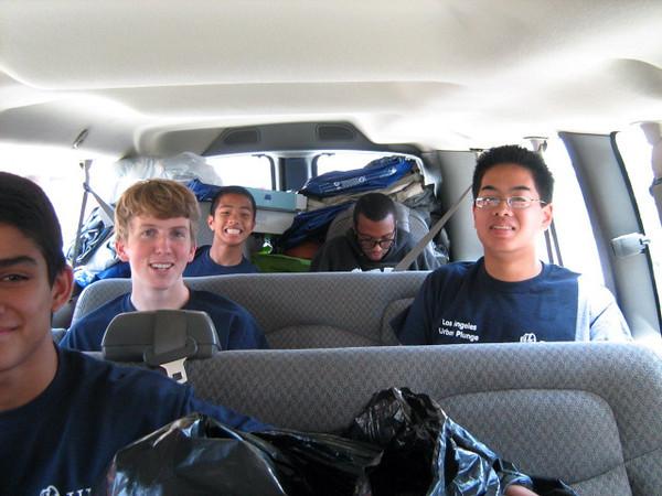 Mr. McClave's van: Gab, Cameron, Justin, Michael and Carter.