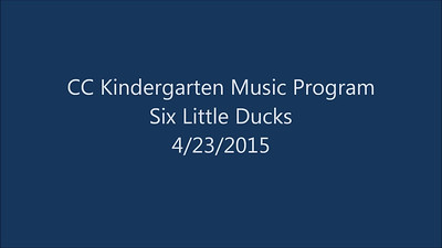 2015 04 23 - Six Little Ducks